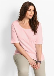 Basic Baumwollshirt Rib-Jersey, bpc bonprix collection