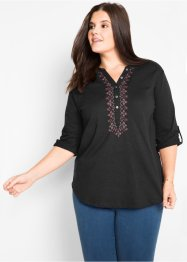 3/4-Arm-Shirt-Tunika mit dekorativen Details, bpc bonprix collection