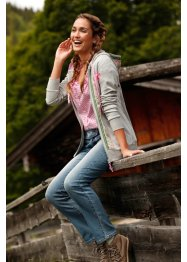 Sweatjacke mit Blumendekor, bpc bonprix collection