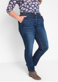 Boyfriend-Stretchjeans mit Rippbund, bpc bonprix collection