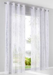 Transparente Gardine mit Glanz Druck (1er Pack), bpc living bonprix collection