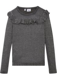 Strickpullover mit Volant, bpc bonprix collection