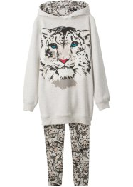 Mädchen Sweatshirt + Leggings (2-tlg. Set), bpc bonprix collection