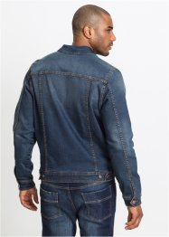 Stretch-Jeansjacke mit Badge, John Baner JEANSWEAR