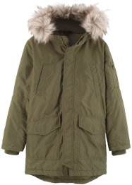 Jungen Parka mit Fellimitatkapuze, bpc bonprix collection