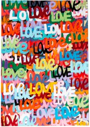 "Wandbild ""Love-Graffiti"", Home Collection"