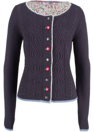 Strickjacke mit Blumenstickerei, bpc bonprix collection