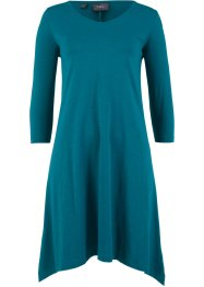 Baumwoll Flammgarn-Shirtkleid 3/4 Arm, bpc bonprix collection