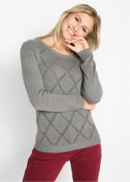Pullover mit Ajour-Muster, bpc bonprix collection