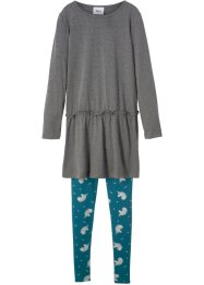 Mini-Langarmkleid + Leggings (2-tlg.), bpc bonprix collection