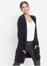 Longstrickjacke in Flauschoptik, BODYFLIRT
