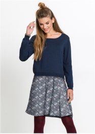 Langarm-Strickkleid in 2-in-1-Optik, John Baner JEANSWEAR