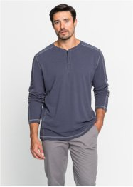 Piqué-Langarmshirt mit Knopfleiste Regular Fit, bpc bonprix collection