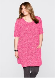 Shirt-Kleid in Melange-Optik mit Halbarm, bpc bonprix collection
