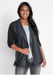 Maite Kelly Strickjacke mit Lederoptik-Details, bpc bonprix collection