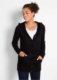 Strickjacke mit Kapuze, bpc bonprix collection