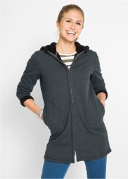 Sweat-Jacke mit Teddyfell, bpc bonprix collection