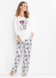 Pyjama mit Flanellapplikation, bpc bonprix collection