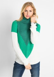 Rollkragenpullover mit Colour-Blocking, bpc bonprix collection