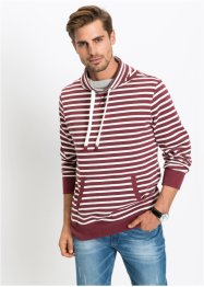 Geringeltes Schalkragensweatshirt Regular Fit, bpc bonprix collection