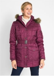Lange Steppjacke mit Fellimitatbesatz, bpc bonprix collection