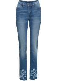 Bestickte Authentic-Stretch-Jeans Slim, John Baner JEANSWEAR