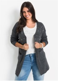 Long-Strickjacke mit Perlen, BODYFLIRT