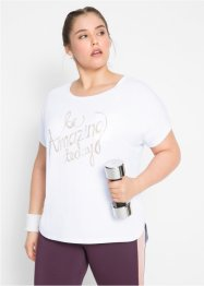 Shirt mit Metallic-Druck, kurzarm, bpc bonprix collection
