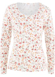 Stretch-Langarmshirt mit Blumendruck, bpc bonprix collection