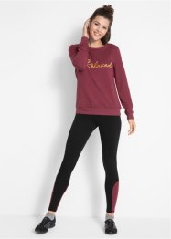 Sweatshirt mit Sport-Leggings (2-tlg.), bpc bonprix collection