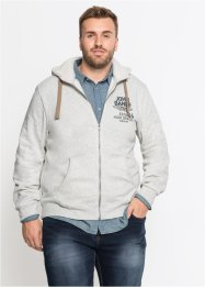 Sweatjacke mit Teddyfutter in der Kapuze Regular Fit, John Baner JEANSWEAR