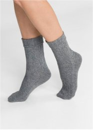 Damen Socken mit Zopfmuster (4er-Pack), bpc bonprix collection