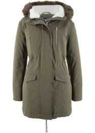 Kapuzenparka mit Fellimitatbesatz, bpc bonprix collection