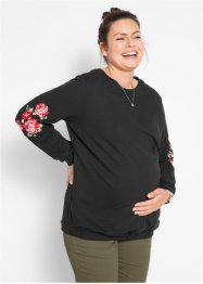 Umstands-Sweatshirt mit Blumendetail, bpc bonprix collection