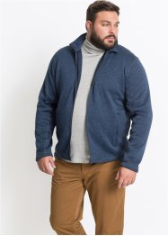 Melierte Strickfleecejacke, bpc bonprix collection