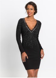 Abend-Shirtkleid mit Glitzersteinen, BODYFLIRT boutique