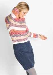 Ripp-Pullover, gestreift, bpc bonprix collection