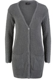 Strickjacke mit Ajour-Ärmeln, bpc bonprix collection