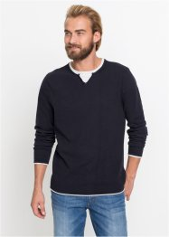 2 in 1 Pullover mit recycelter Baumwolle, bpc bonprix collection