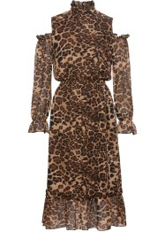 Kleid mit Leo-Print, BODYFLIRT boutique