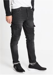 Slim Fit Stretch-Jeans im Biker-Stil, Straight, RAINBOW