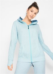Langarm-Sweatjacke mit Neon-Highlights, bpc bonprix collection