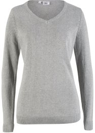 V-Strickpullover, Recycled Baumwolle, bpc bonprix collection