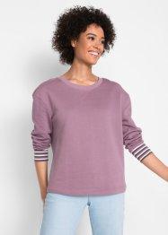 Baumwoll Sweatshirt mit geringelten B uuml ndchen, Langarm, John Baner  JEANSWEAR 8b0519c959