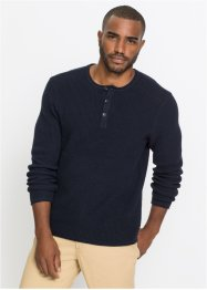 Pullover mit Knopfleiste, bpc bonprix collection