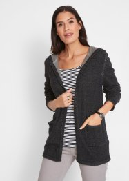 Offene Kapuzen-Sweatjacke, bpc bonprix collection