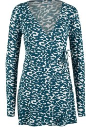 Wickelshirt mit Bindeband und Animal-Print, bpc bonprix collection