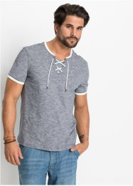 T-Shirt mit Schnürung Regular Fit, John Baner JEANSWEAR