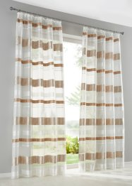 Jacquard Gardine mit Querstreifen (1er Pack), bpc living bonprix collection
