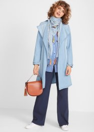 Wickelmantel in Denim-Optik mit Waschung, bpc bonprix collection